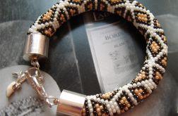 Koralikowy grubasek - bransoletka