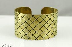 Mosiężna bransoleta - kratka