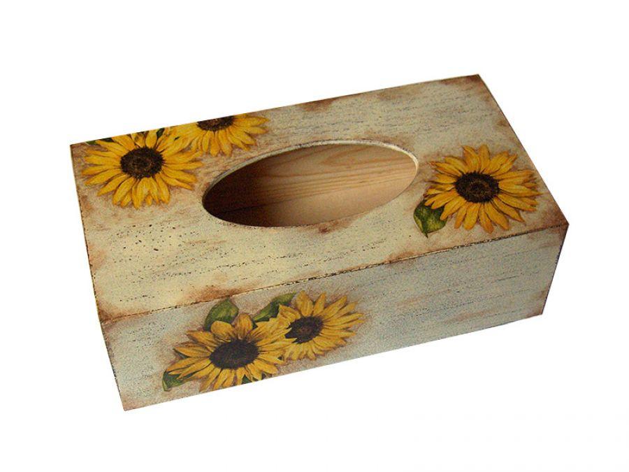SŁONECZNIKI -pudełko na chusteczki