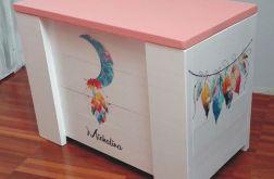 Kufer drewniany - styl boho - dreamcatcher2
