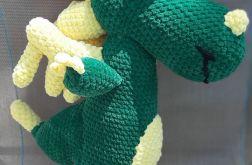 Zielony Smok Edzio pluszowa maskotka szydelko