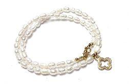 Pearls /white/ perły naturalne vol. 1- choker