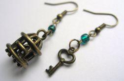 Kolczyki - klatka z kluczykiem