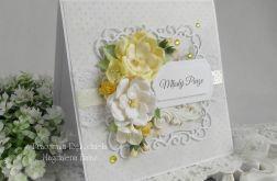 Ślubna kartka w pudełku z okienkiem 26