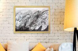 Fala - czarno biały rysunek do pokoju
