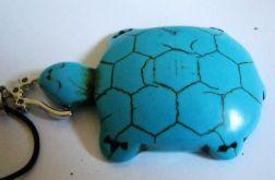 Turkusowy żółw, oryginalny wisiorek