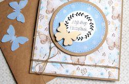 kartka ślubna :: motyle :: light blue