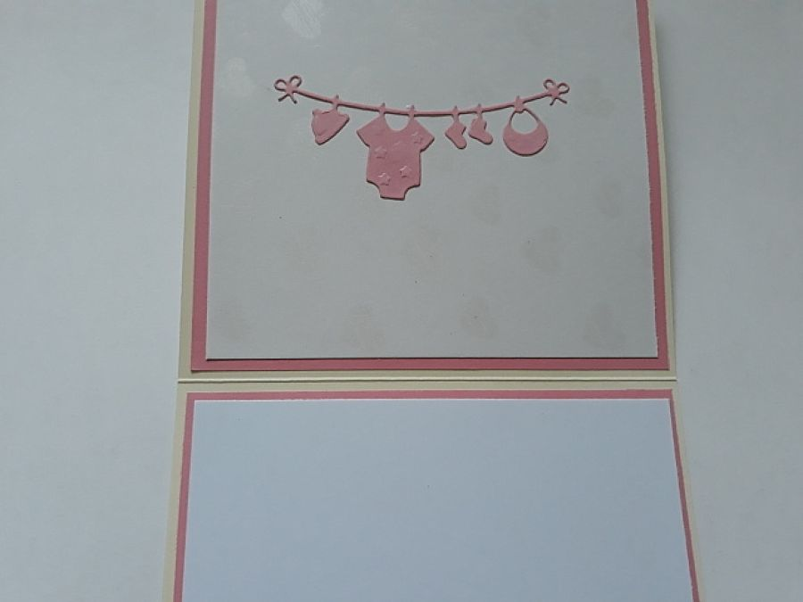 Kartka, narodziny, dziewczynka