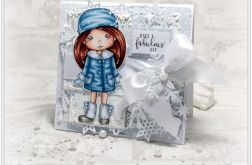 Śnieżna Molli - kartka świąteczna