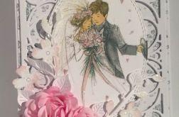 Kartka ślubna z Parą Młodą