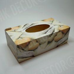 Pudełko prostokątne na chusteczki - serca
