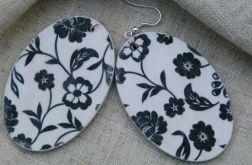 Kolczyki biało-czarne