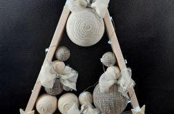 Duża Drewniana choinka Led Hand Made