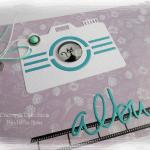Album fioletowo-morski z kotem