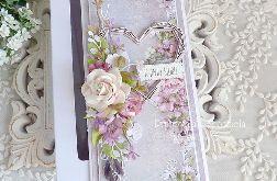 Ślubna kartka w pudełku 334