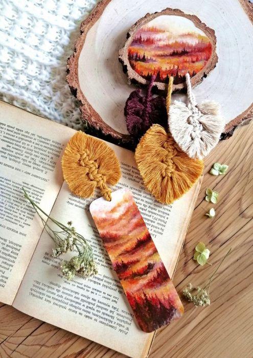 Zakładka do książki złota jesień