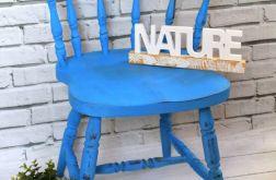 Krzesło shabby chic, kolor niebieski