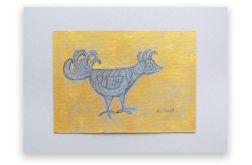 Ptaszek 12- rysunek  z ptaszkiem szkic