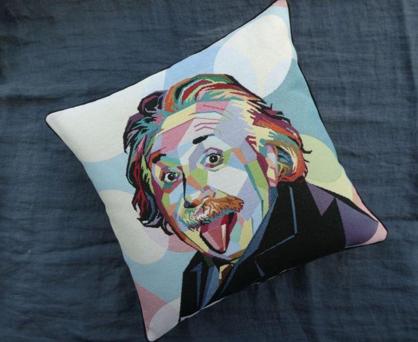 Poduszka gobelinowa Einstein