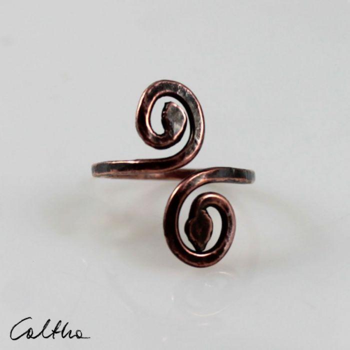 Zawijas - miedziany pierścionek 190522-02