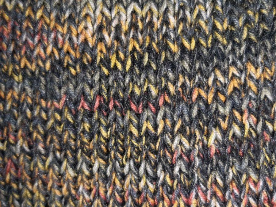 kolorowy luźny sweter bawełna i wełna s/m - zbliżenie