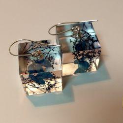 Cube II - duże kolczyki z żywicy