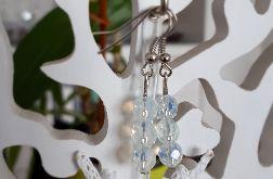 Kolczyki handmade z mętnymi kryształkami