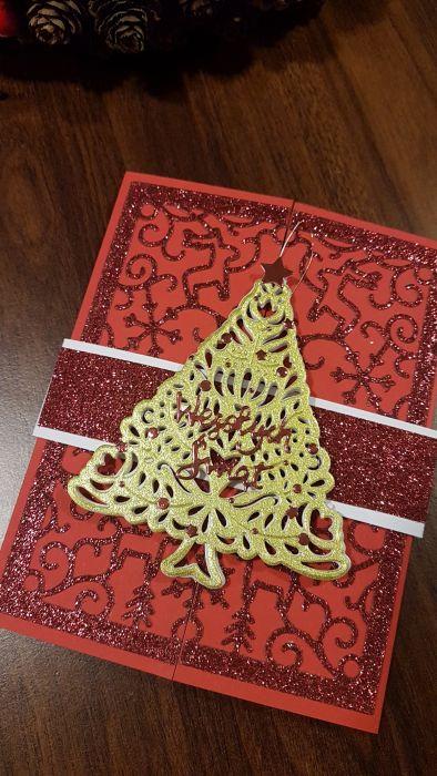 Kartka bożonarodzeniowa z zawieszką KH2012006