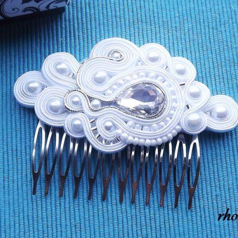Klasyczne Biały  grzebień do włosów