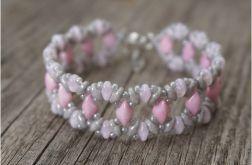 "bransoletka ""pink & gray"""