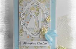 Pamiątka ślubna z Młodą Parą niebieska