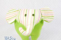 Mini słoń zielony w paski