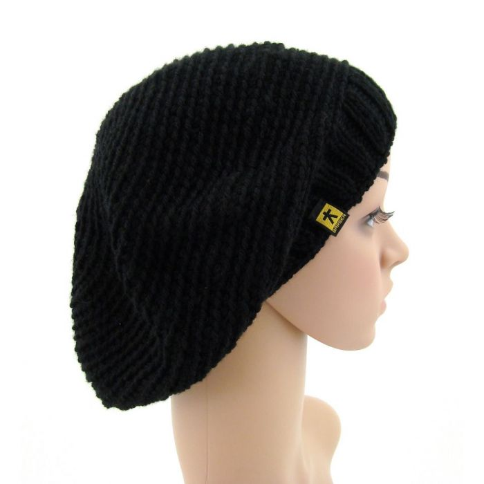 czarny beret - czapka