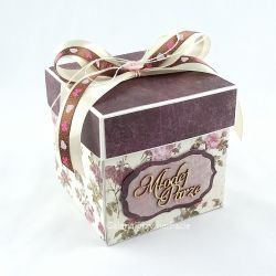 Pudełko, exploding box na ślub, fiolet