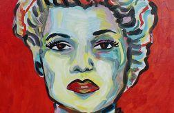 obraz olejny Gilda Rita Hayworth noir old cinema style
