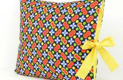 Poszewka na poduszkę z żółtą kokardą