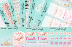 Planner stickers kit. Bath Relax collection.