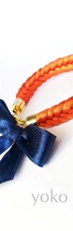Bransoletka dla dziewczynki orange