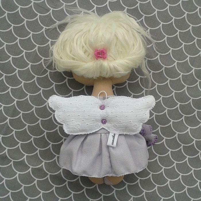 ANIOŁEK lalka - dekoracja tekstylna, OOAK/34 - tak wyglądam z tyłu