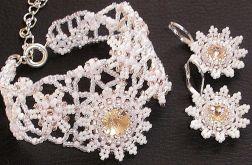 komplet ślubny z rivoli Swarovskiego Silk