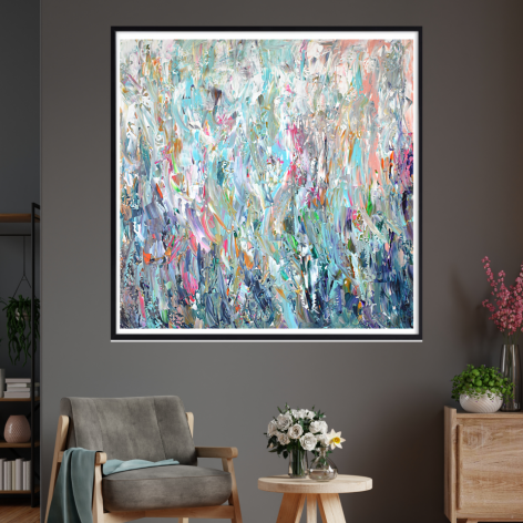Abstrakcyjny obraz ręcznie malowany 100x100