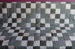 narzuta patchwork szara