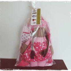 zestaw 4-elementowy różowy na prezent