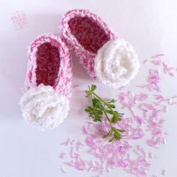 Słodkie szydełkowe buciki