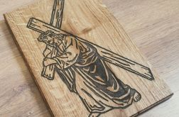 Obraz w Drewnie - Jezus z Krzyżem
