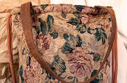 Żakardowy plecak torba 2w1 w kwiaty