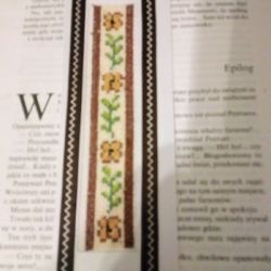 Zakładka do książki / bookmark/ żółte kwiaty