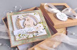 Kartka ślubna w pudełku rystykalna