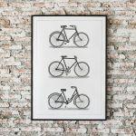 Plakat retro rowery 50X70 B2