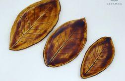 Zestaw liści ceramicznych
